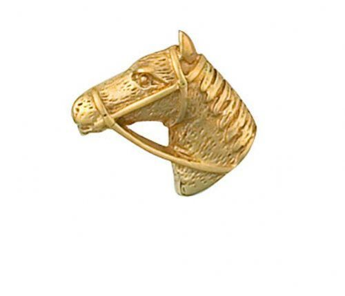 Horses Head Horse Lapel Pin Cravat Pin Gold Made in Jewellery Quarter Bham